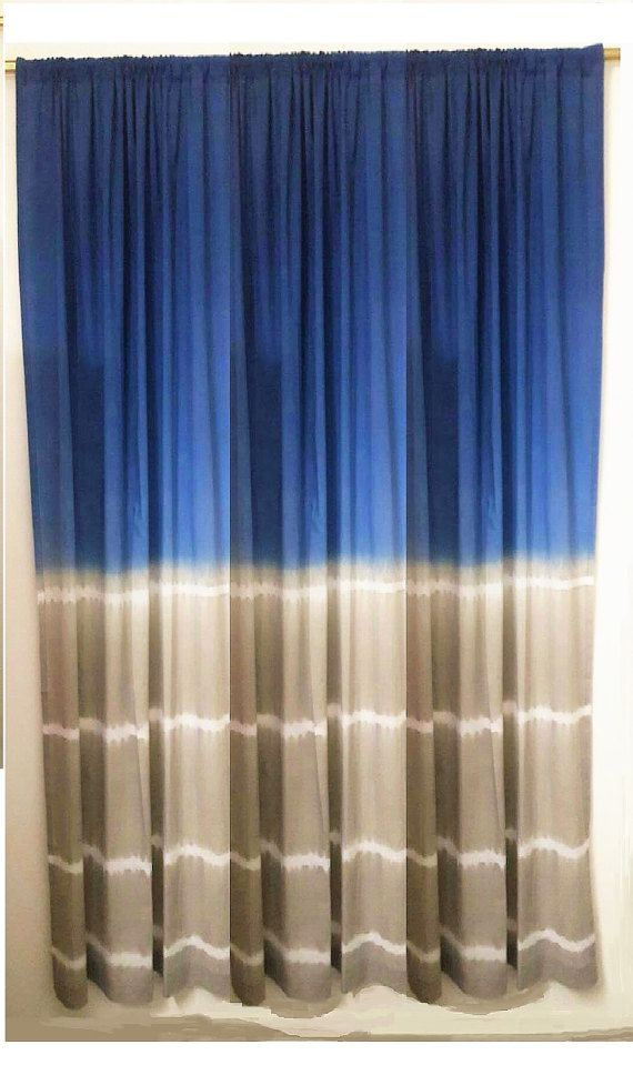 Tie Dye Curtain Leharia Rope Dye Technique Blue By Ohanahomedecor
