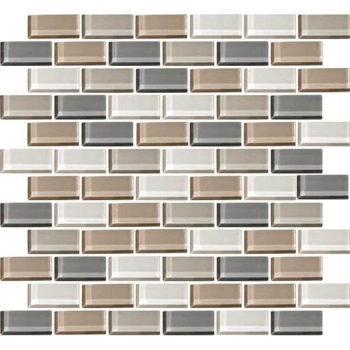 Daltile Color Wave Glass Cw21 Willow Waters Blend 1 X 2 Brick Subway Dal Tile Glass Tile Glossy Daltile Wave Glass Color Wave