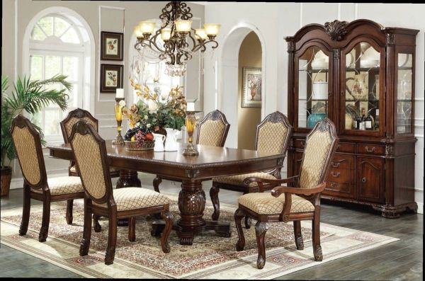 Acme Furniture Chateau De Ville Espresso 7pc Dining Room Set Formal Dining Room Sets Double Pedestal Dining Table Formal Dining Tables