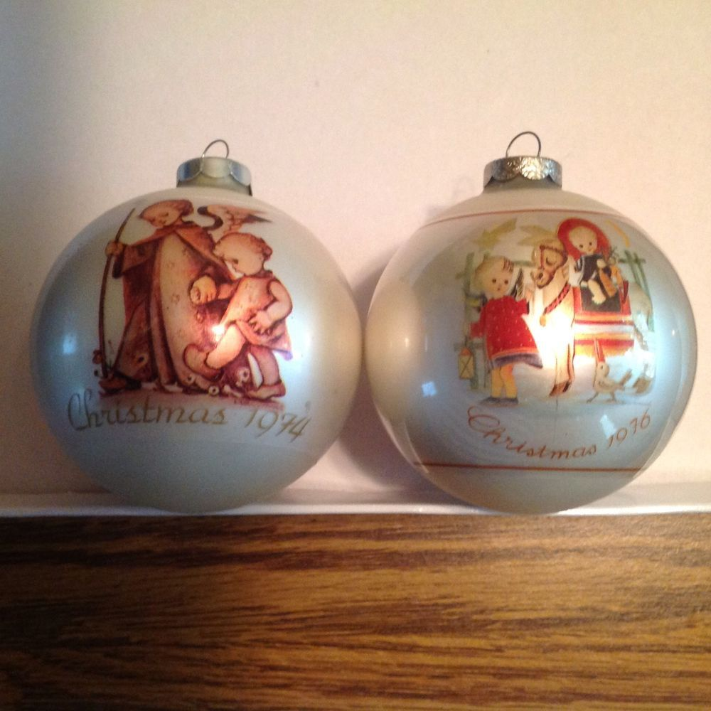 Hummel christmas tree ornaments - Berta Hummel Limited Edition Ball Ornaments 1974 1976 Hummelvictorian Christmaschristmas Ornaments