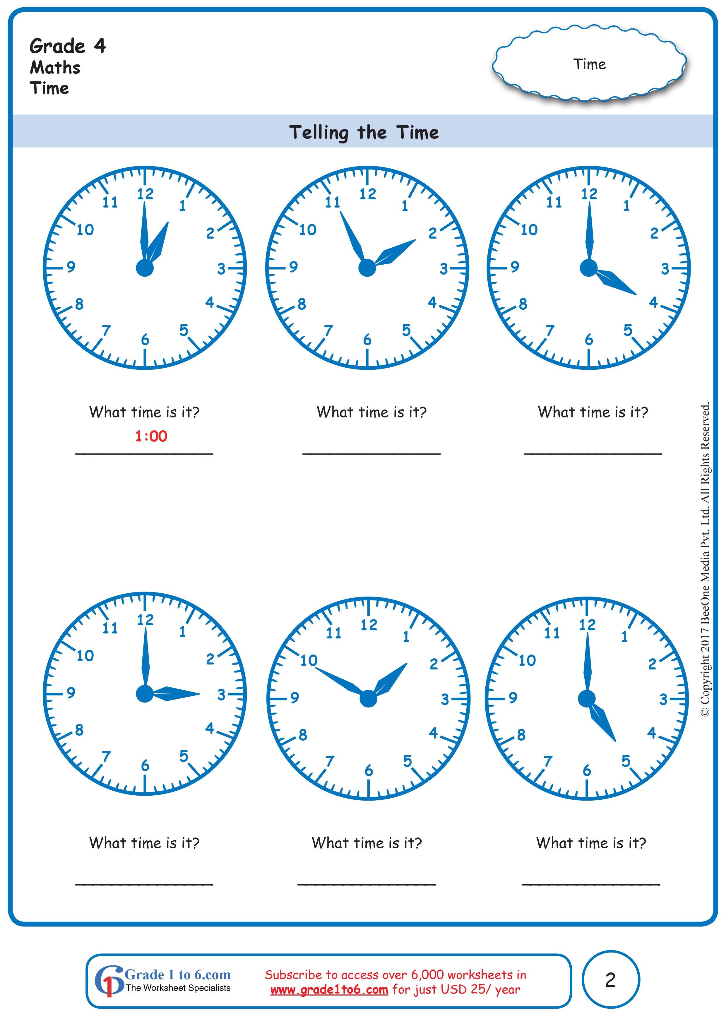 Telling Time Worksheets   Telling time worksheets [ 3464 x 2480 Pixel ]