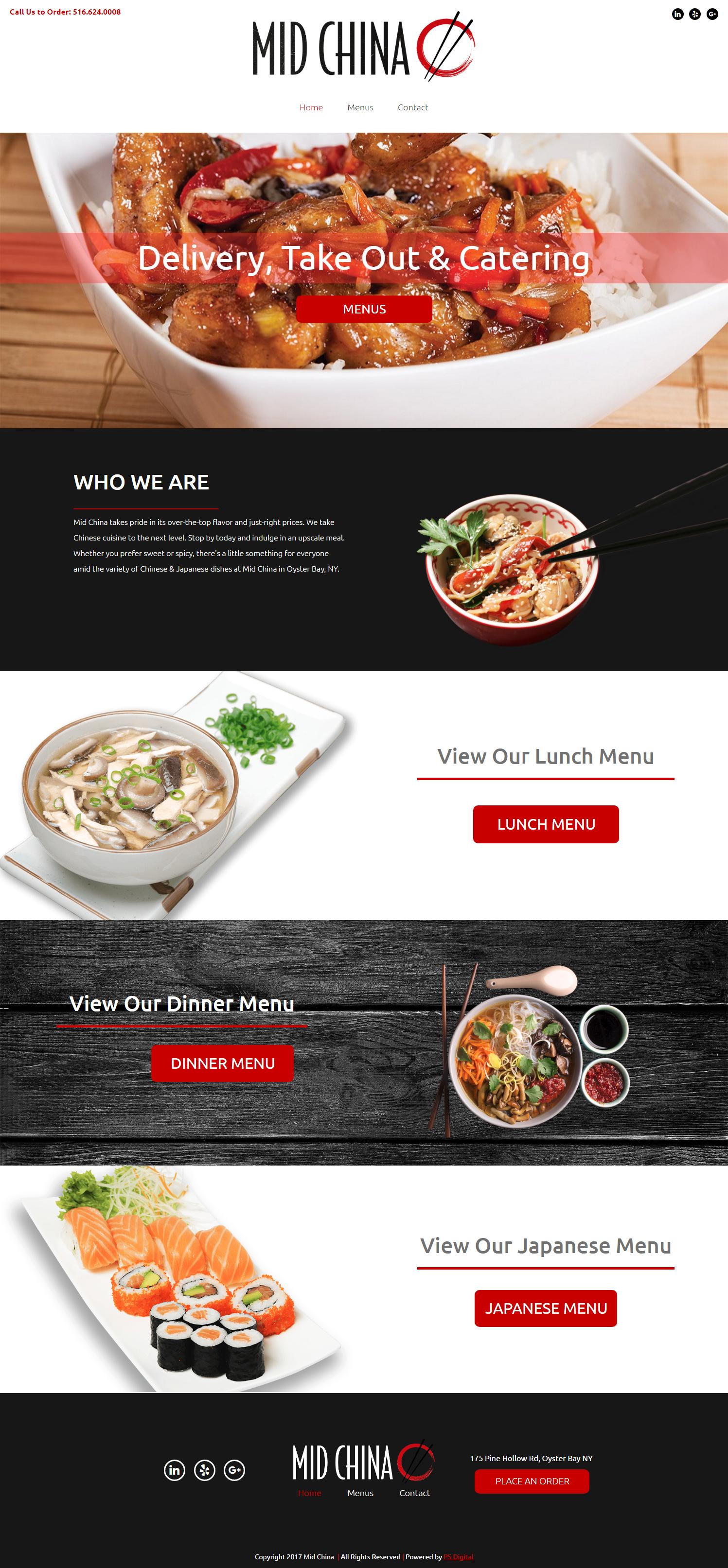 Chinese Food Restaurant Web Design Layout Chinese Food Restaurant Food Website Design Food Web Design