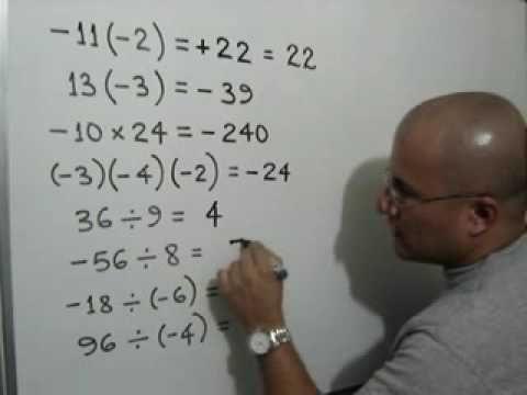 Este Video Explica La Multiplicacion Y Divicion De Numeros Enteros Clase De Matemáticas Matematicas Tiempo De Aprendizaje