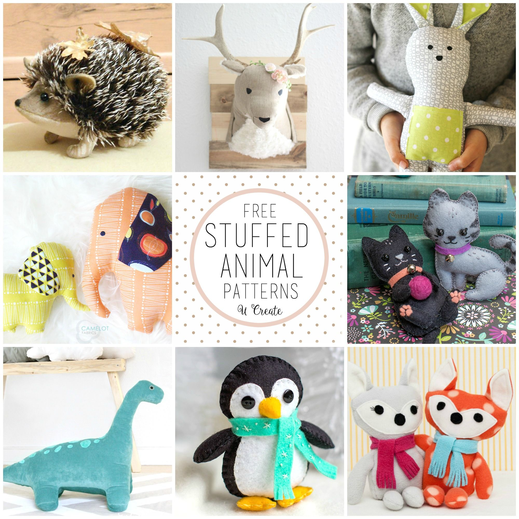 THE CUTEST Stuffed Animal Tutorials | DIY and Sewing | Pinterest ...