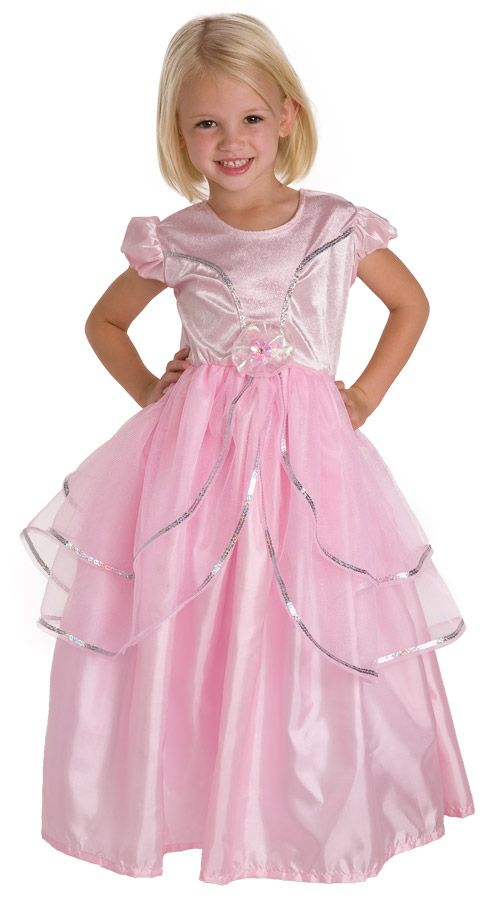 Princess Ball Gown Renaissance Pink Cute Dress Up Halloween Child Costume