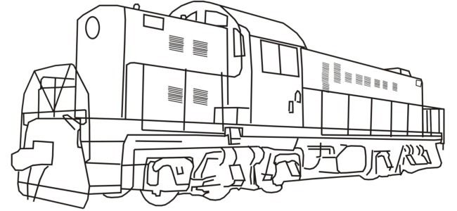 outline pictures of train diesel train coloring
