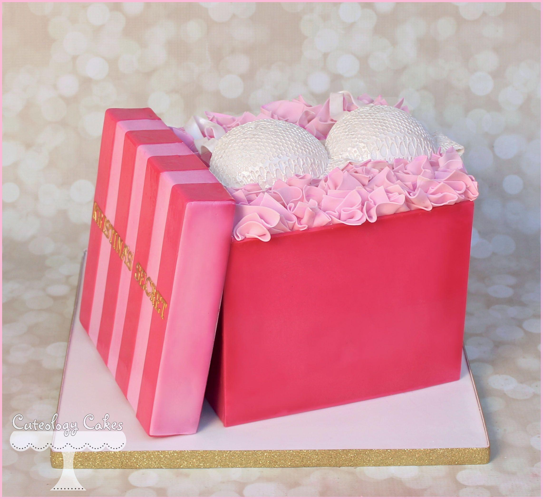 Victoria S Secret Bridal Shower Cake With Fondant Bra Www Facebook I