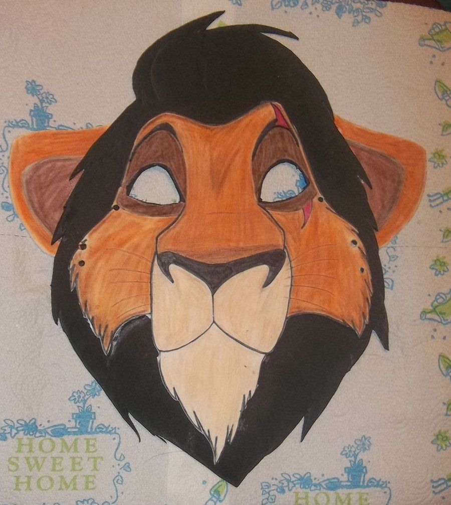 Lion king mask template