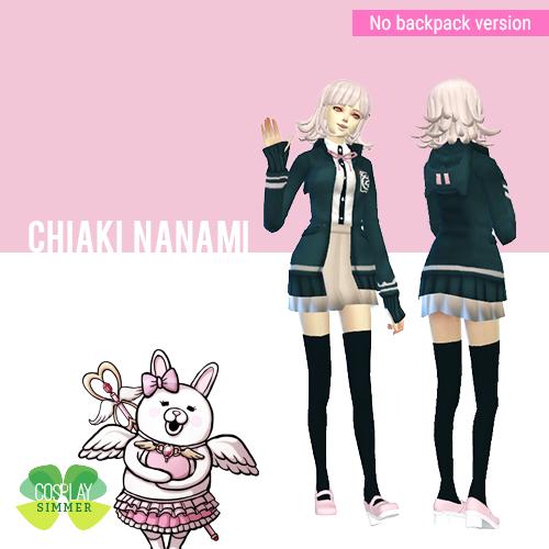 The Sims 4 – Danganronpa 2 Chiaki Nanami Cosplay Set – Cosplay