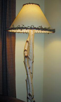 Diy Lamp Make Your Own Birch Lamp Diy Floor Lamp Rustic Lamps