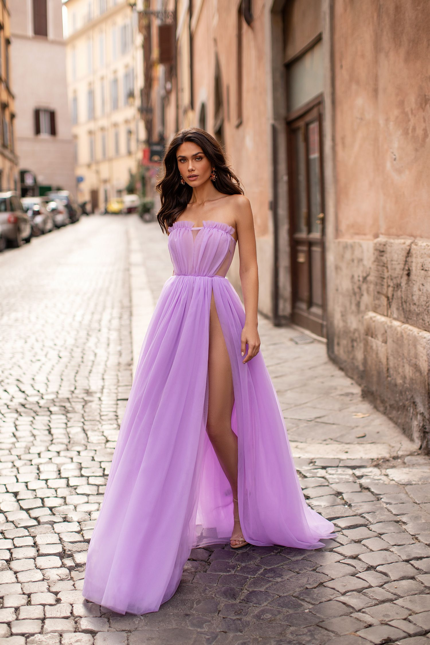 Amalia lilac in 2020 nice dresses a line gown