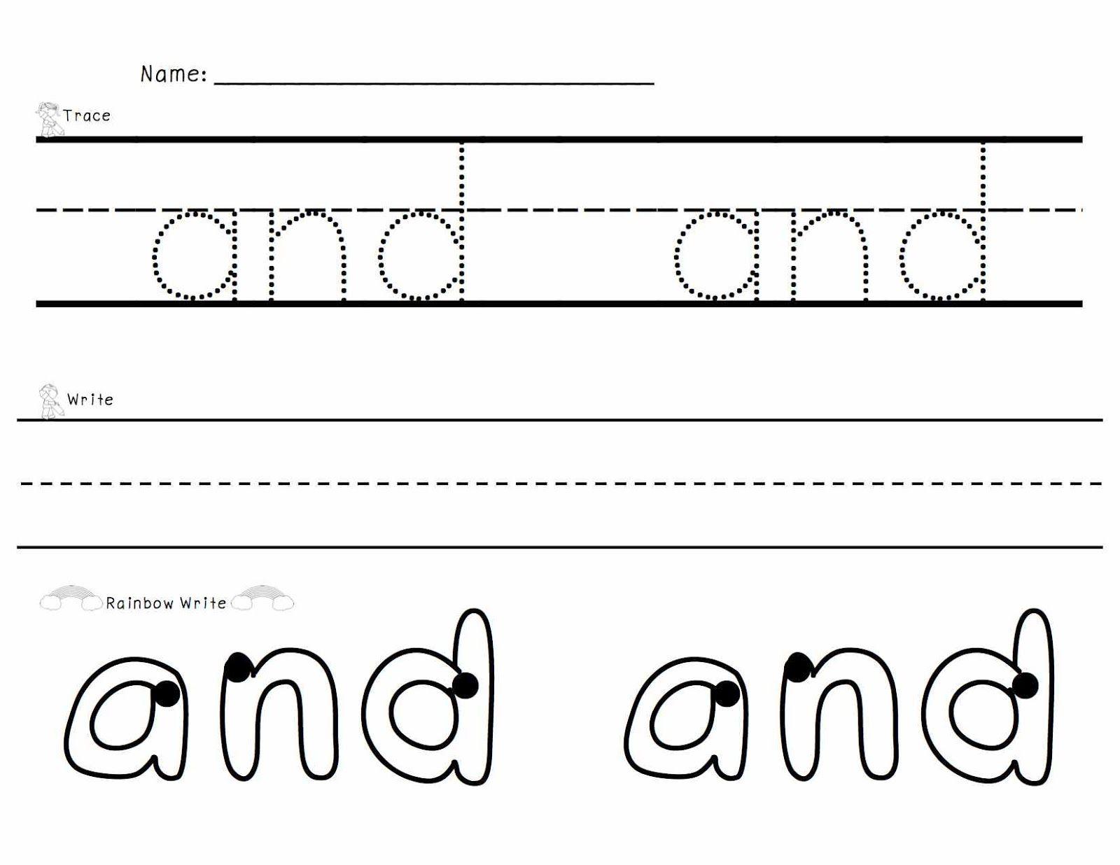 Sight Words Trace Write Rainbow Write Rainbow Writing Word Work Kindergarten Sight Words [ 1236 x 1600 Pixel ]