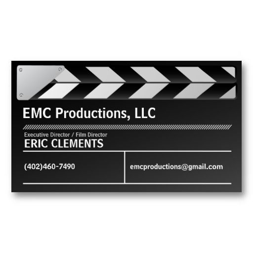 Film Director  Executive Producer Business Card  Film Director