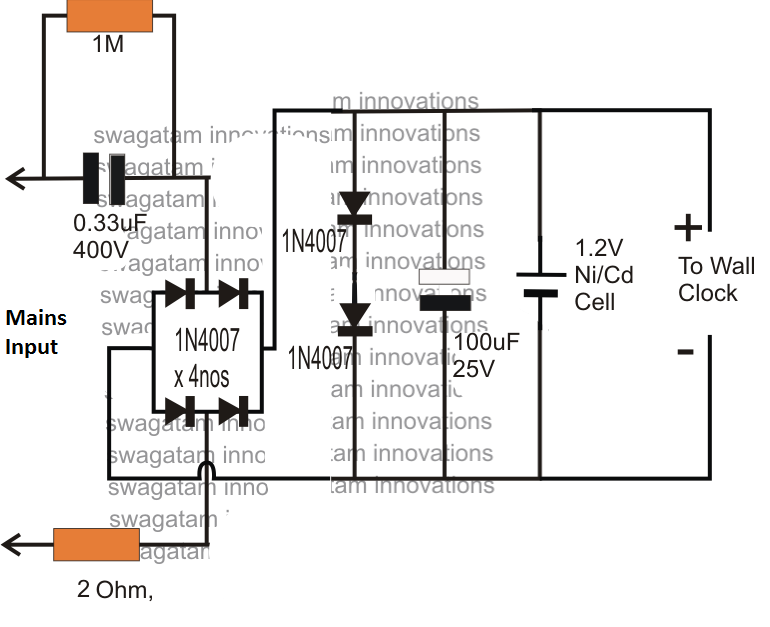 1 5v power supply circuit for wall clock