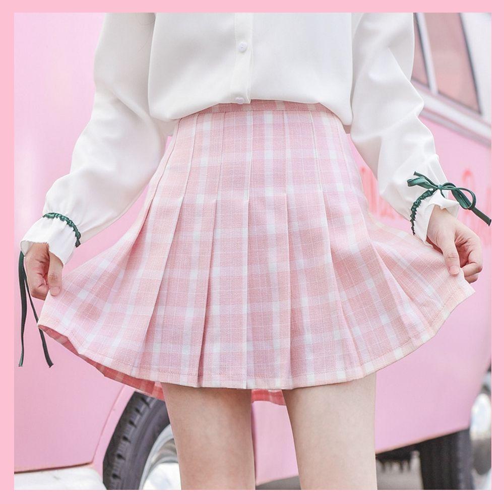 Pastel Grid Tennis Skirt C00674-3 from CutieKill