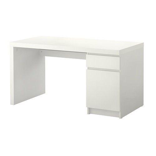 Malm Bureau Blanc Ikea Happylist Les Inspirations