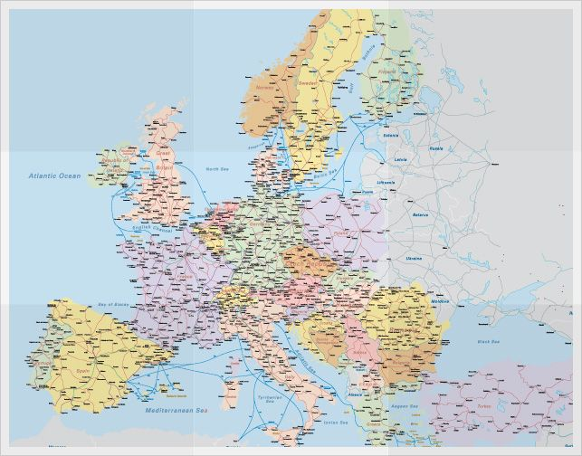 Railway Map Eurail