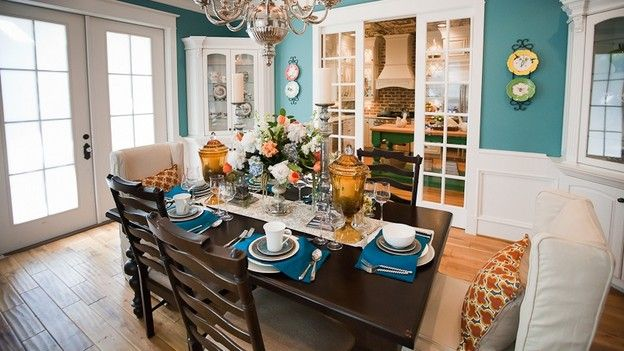 Show Off A Nice Hardwood Table By Using A Table Runner And Placemats  Instead Of A
