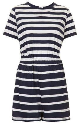 Stripe T-Shirt Playsuit - Rompers and Jumpsuits - Clothing