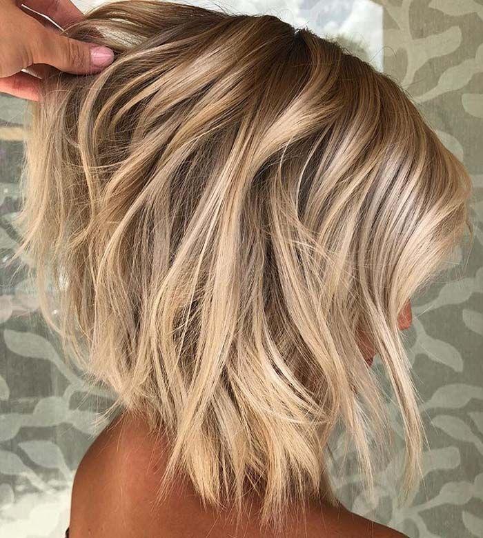 Gorgeous Golden With Dark Roots 2019 Modren Villa Short Blonde Haircuts Thick Hair Styles Medium Length Hair Styles