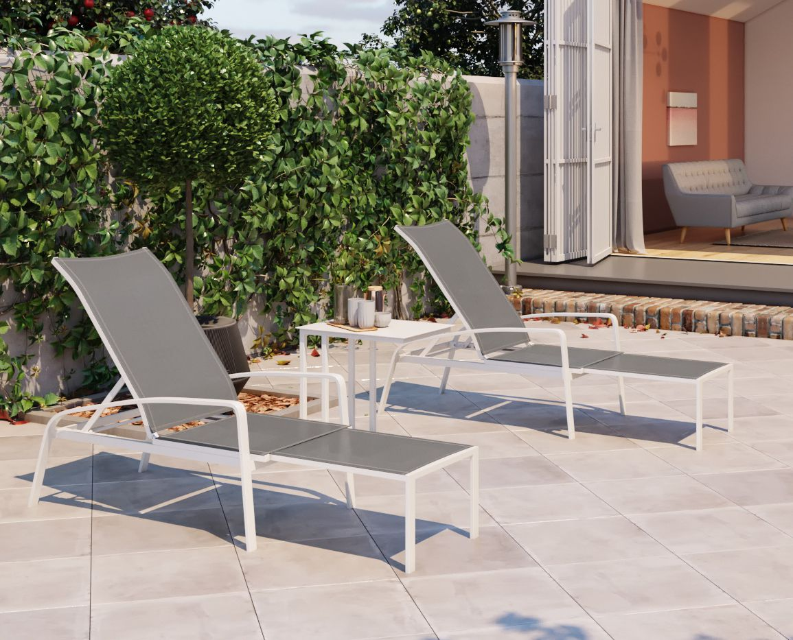Solana outdoor folding sun lounger is designed to bring your sun lounge into your backyard or