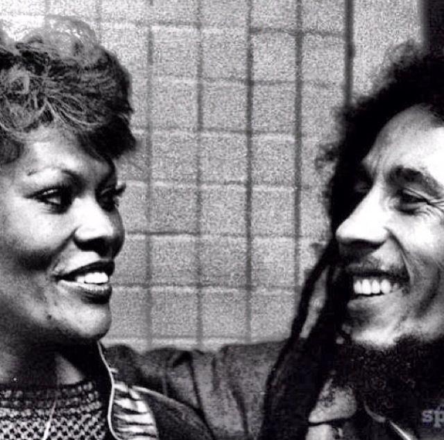 Dionne Warwick and Bob Marley