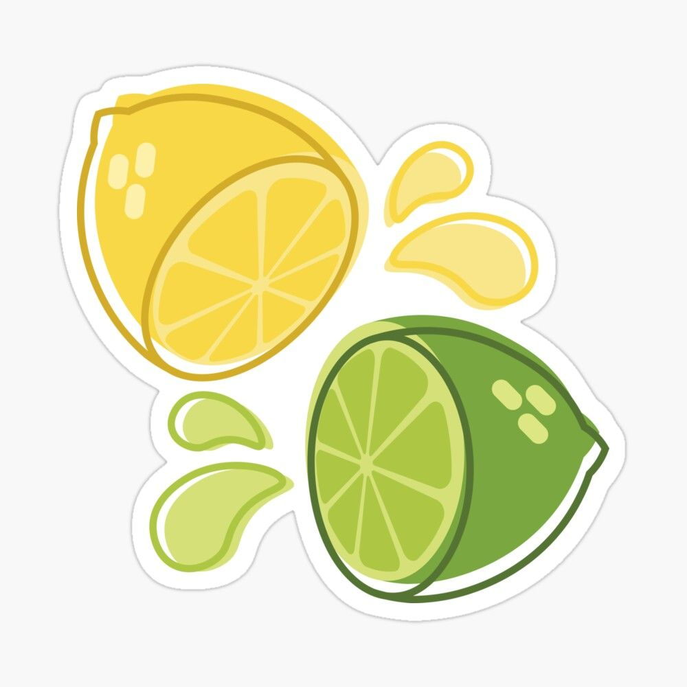 Lime And Lemon Sticker Available At Our Redbubble Shop Stickers Lime Lemon