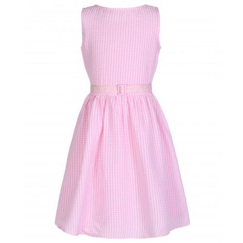 e2e274acc LINDY BOP CHILDRENS MINI 'AUDREY' CUTESY PINK GINGHAM DOT VINTAGE INSPIRED  ROCK 'N' ROLL SWING PARTY DRESS
