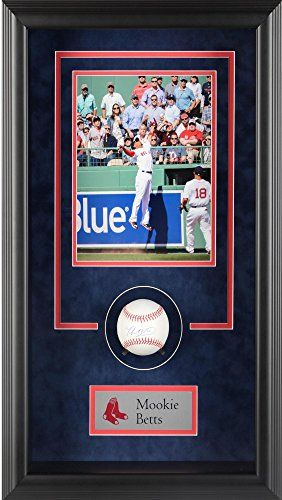 Mookie Betts Boston Red Sox Framed Autographed Baseball Shadowbox ...