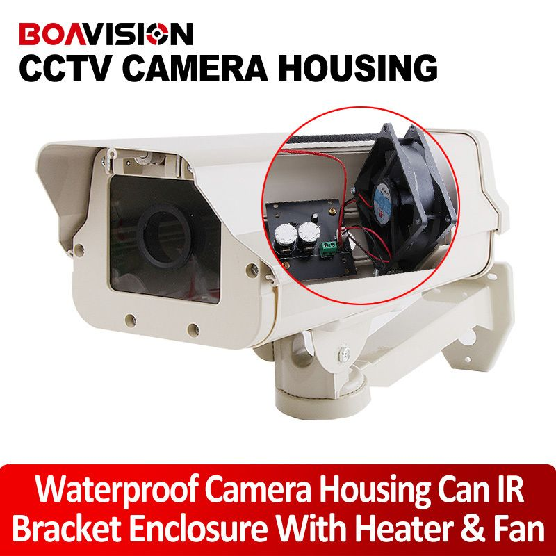 4 HEATER BLOWER WATERPROOF CAMERA HOUSING+METAL BRACKET