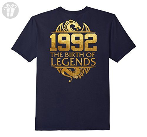 Mens Legends Born In 1992 Birthday Gift For 25 Years Old  2XL Navy - Birthday shirts (*Amazon Partner-Link)