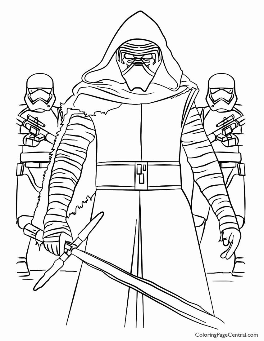 Star Wars Printable Coloring Sheets Luxury Star Wars Kylo