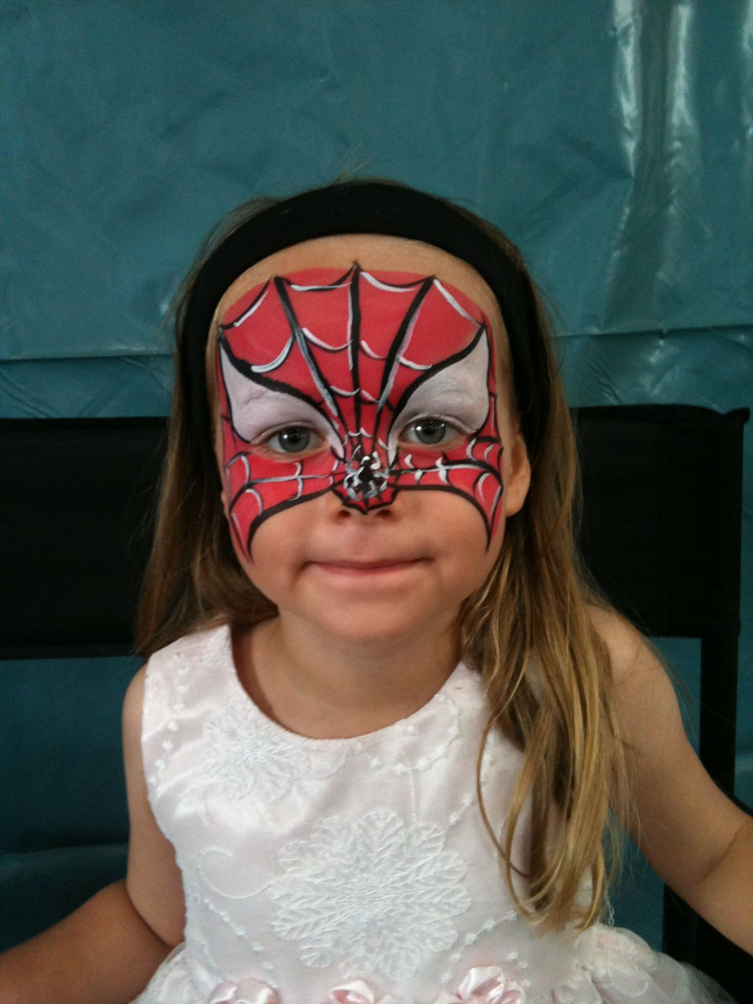 spider girl face paint spiderman party pinterest girl face
