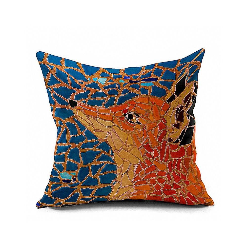 Cotton Flax Pillow Cushion Cover Animal   DW082 - 8PS