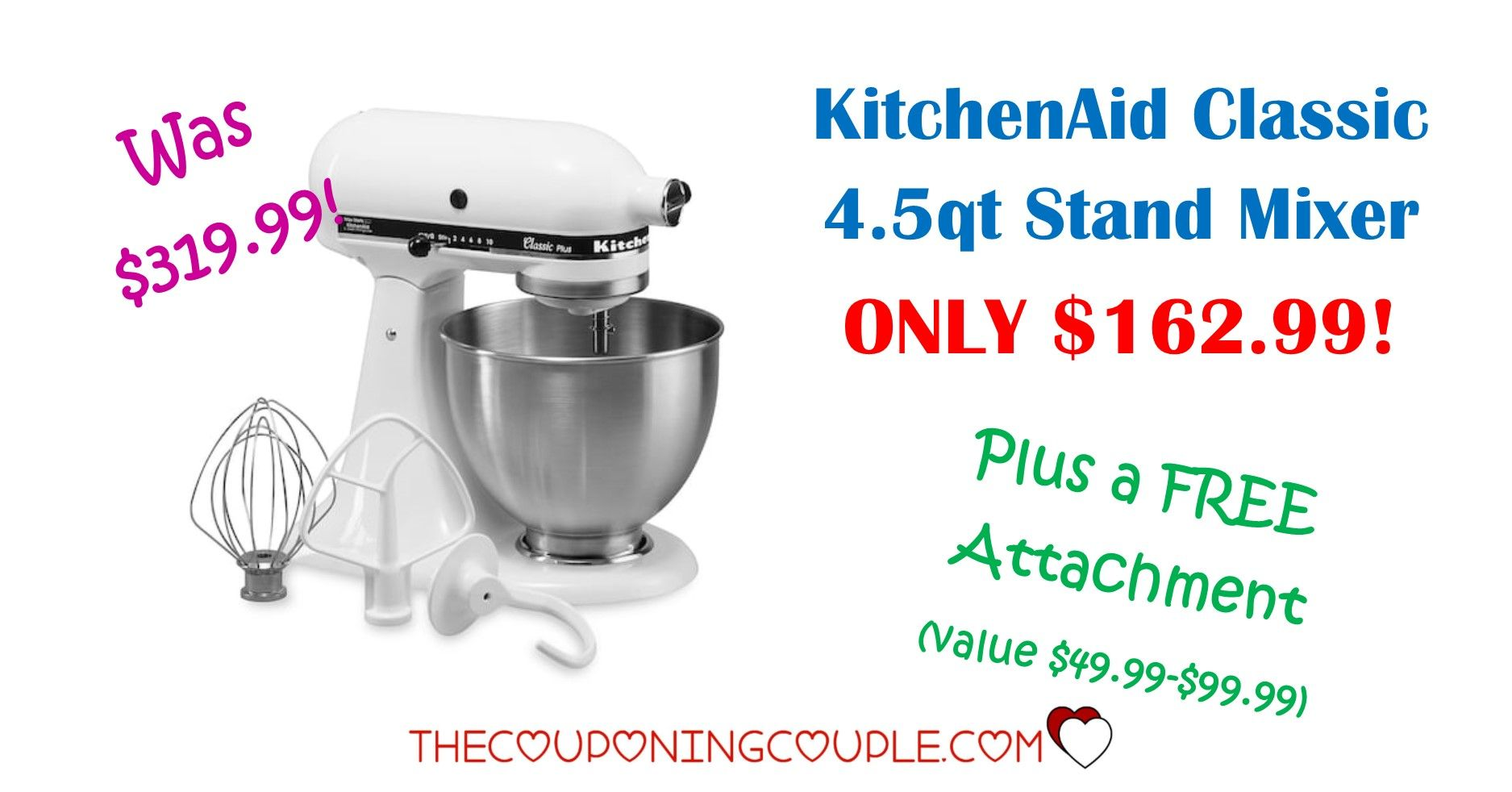 Kitchenaid classic plus 45 qt stand mixer only 12999