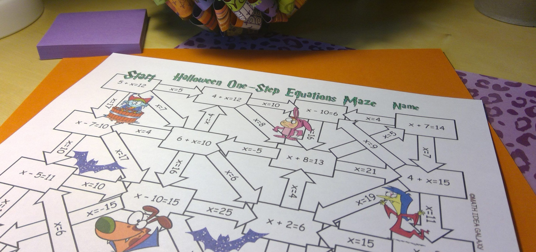 Enjoying Halloween Math Activities In Middle School