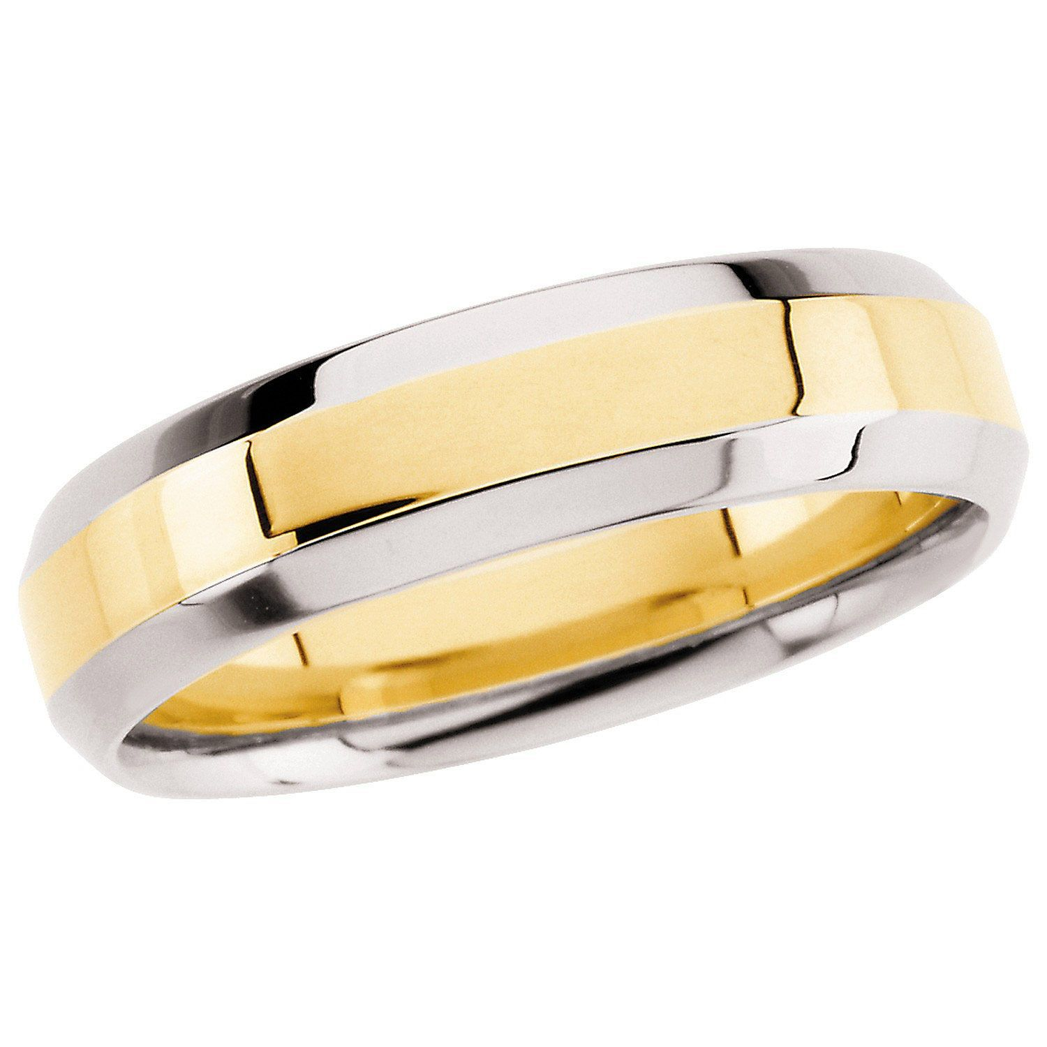14k Two Tone Gold 6 0mm Comfort Fit Band Sam S Club Band