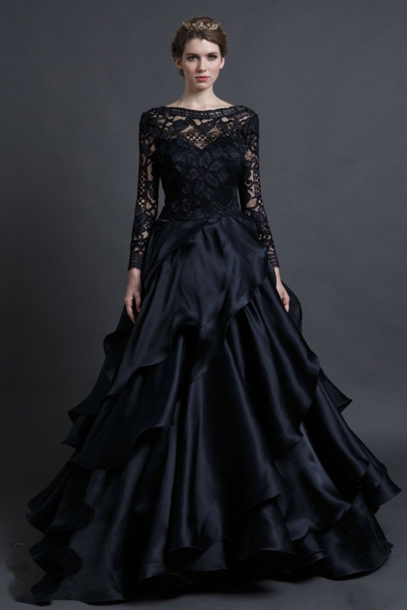 Tips In Choosing Black Lace Wedding Gowns - http://www.cstylejeans ...