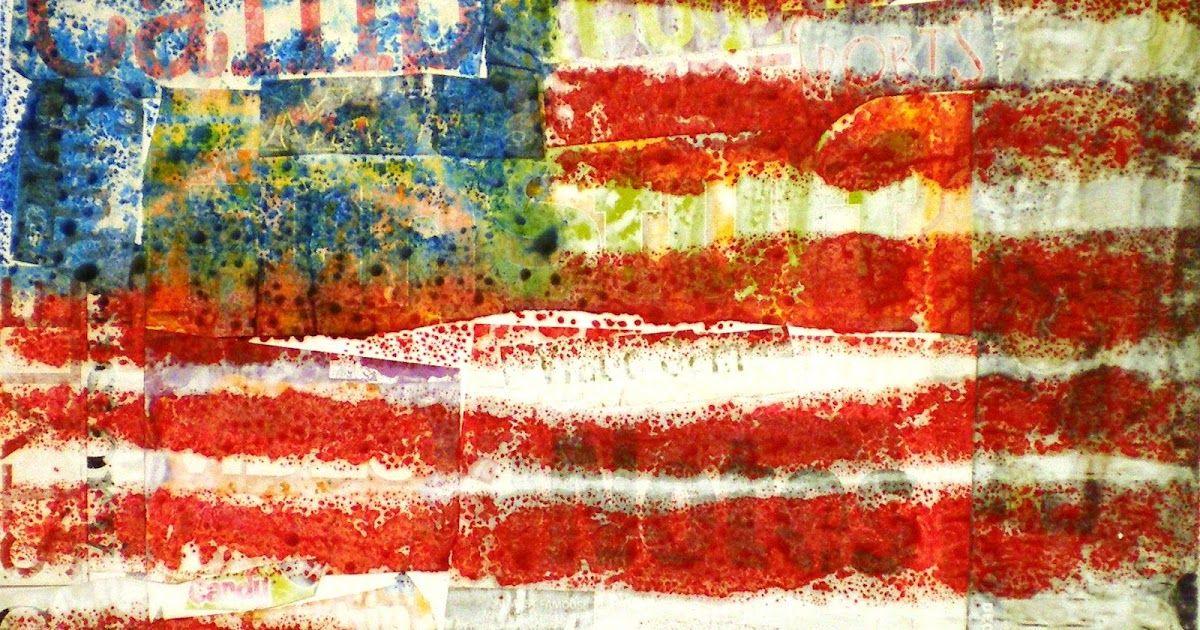 4th Grade Jasper Johns Encaustic Flags Jasper Johns Artwork 7th Grade Art