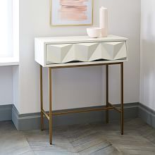 Sculpted Geo Console Parchment Minimalist Home Furniture