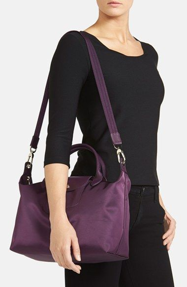 8ca285272 Free shipping and returns on Longchamp 'Medium Le Pliage Neo' Nylon Top  Handle Tote at Nordstrom.com. Lightly textured leather borders a sleek,  classic tote ...