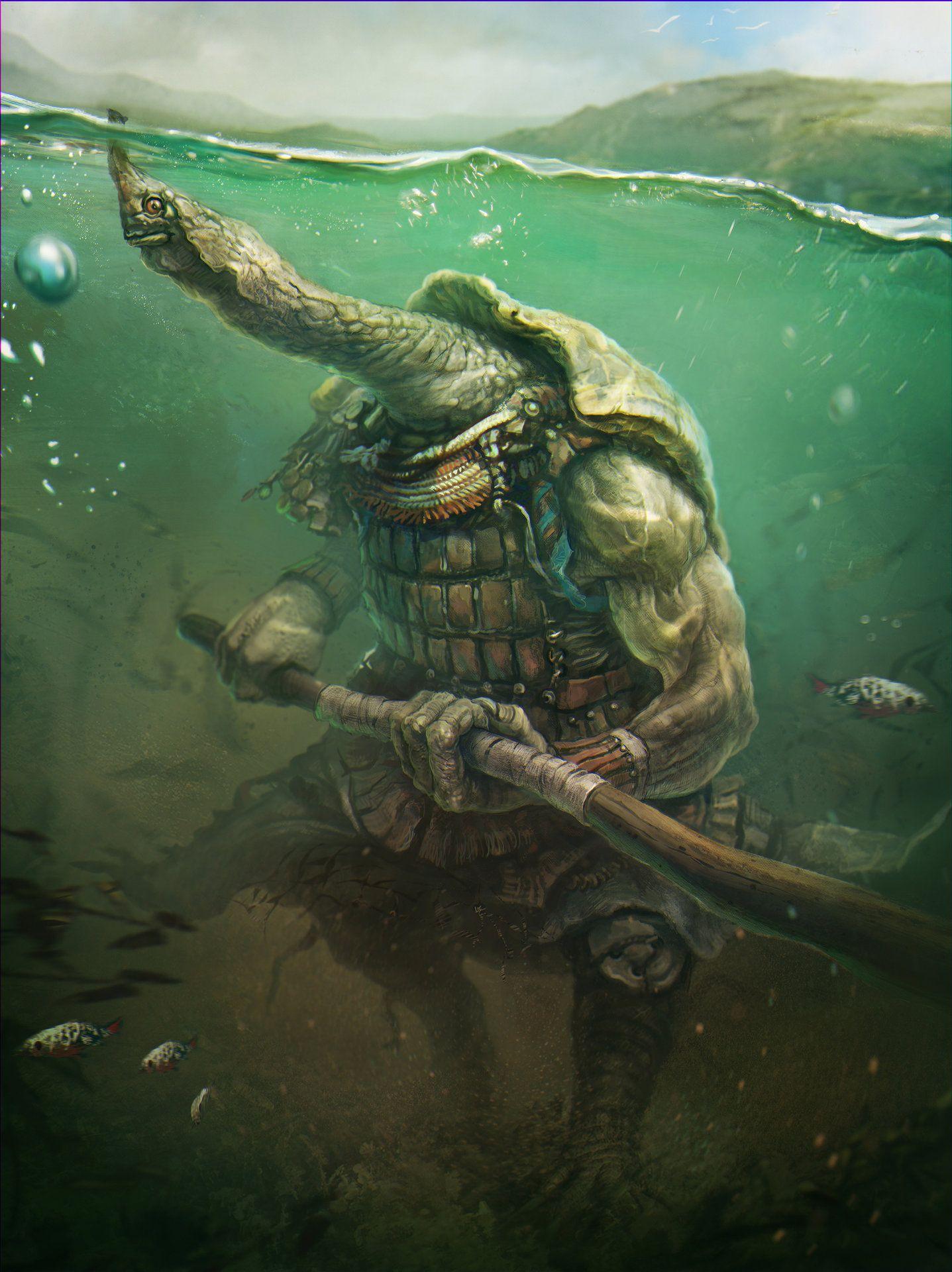 artstation ninja turtle sergey vasnev animals