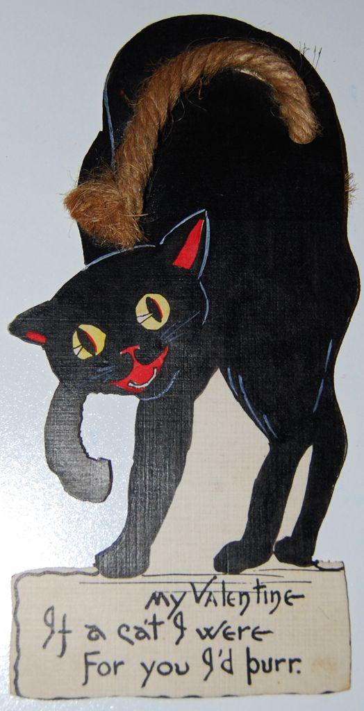 This is wonderful. Black cat Valentine's card.