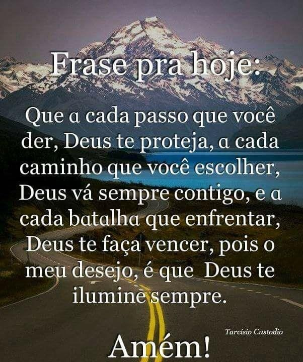 Amor Meuque A Cada Passo Que Vc Der Deus Te Proteja