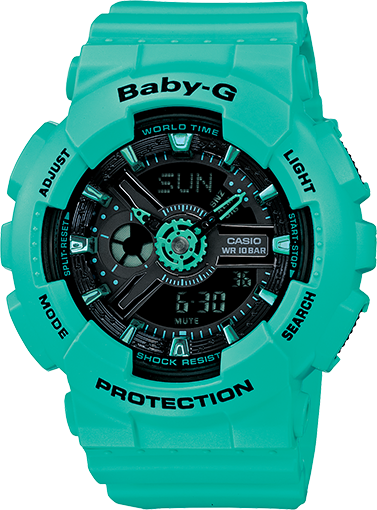 6fd13d11eb25 BA111-3A - Baby-G Blue - Womens Watches