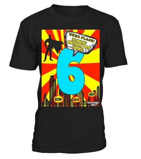 Superhero Birthday Shirts For Boys Size 6 Six Party Theme Special Offer Not
