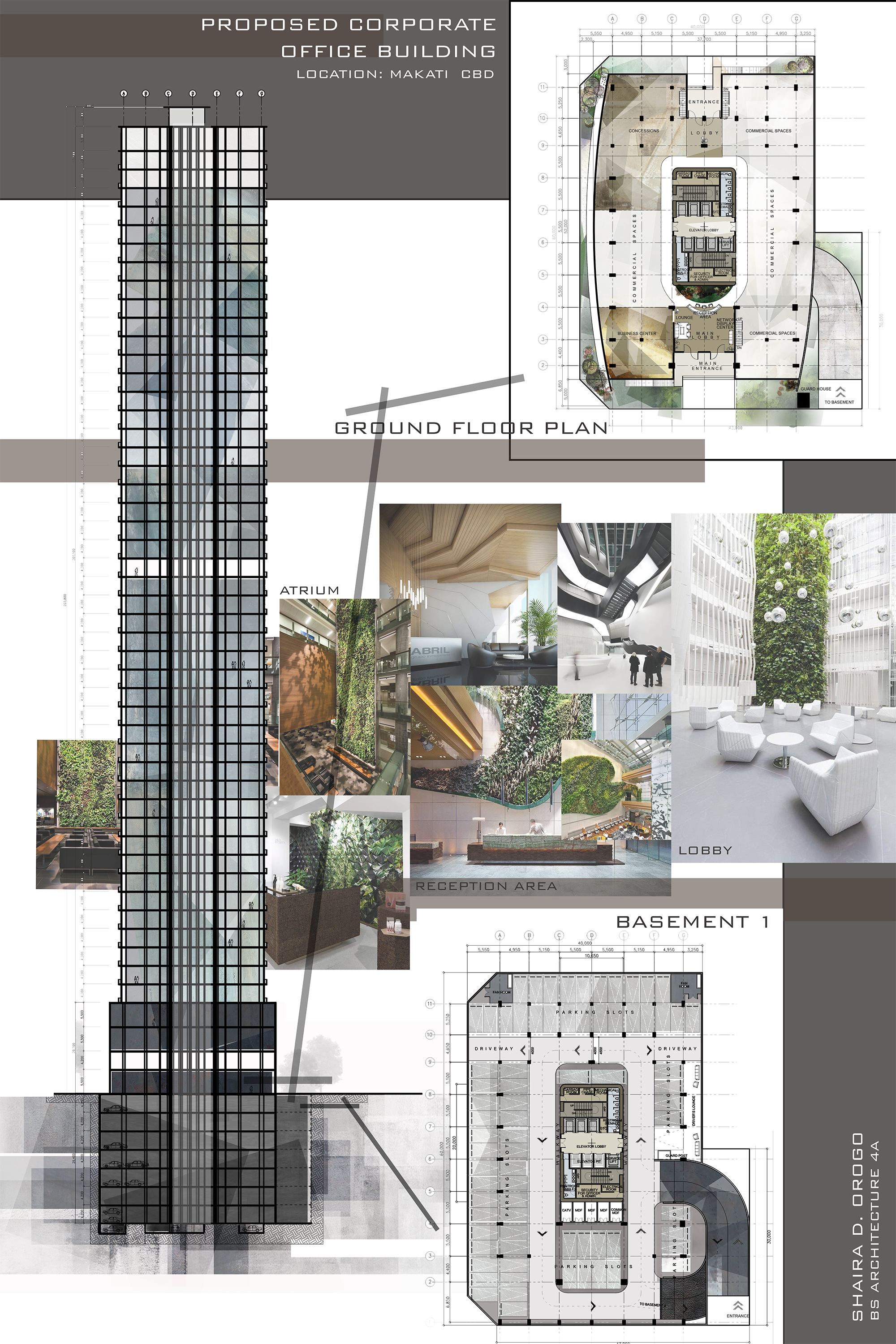 Design 8 proposed corporate office building high rise Green plans