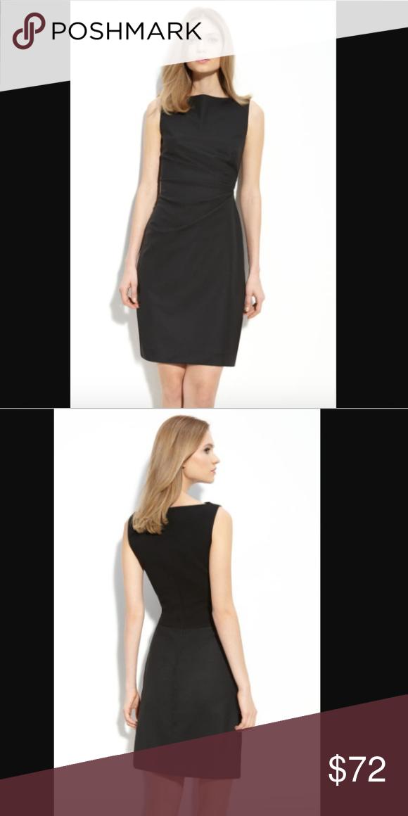 Theory Shaylee Regional Black Wool Sheath Dress Dresses Sheath Dress Theory Dress