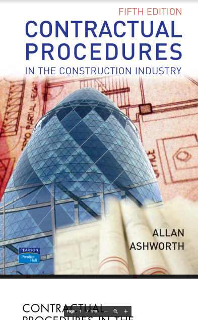 Contractual Procedures In Construction Industry By Allan Ashworth Free Pdf Books Civil Engineering Books Civil Engineering Engineering