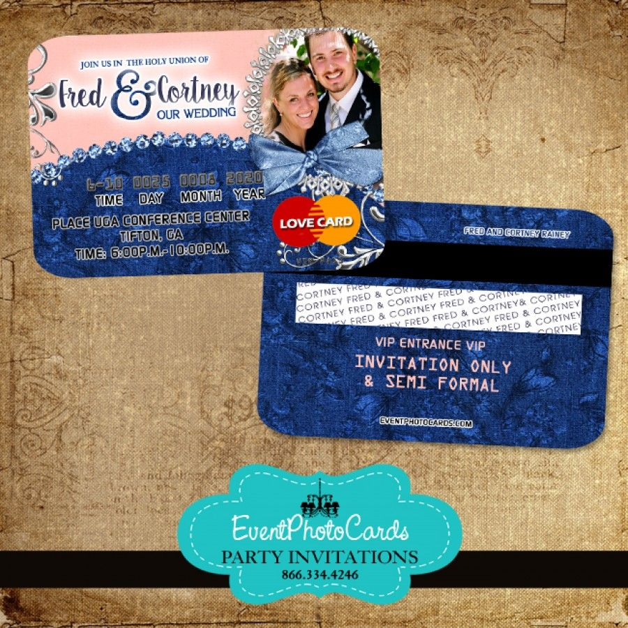 Find This Pin And More On Wedding Credit Card Invitations By Eventphotocards